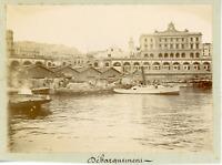 Algérie, Alger, le port, vue sur le débarquement  Vintage citrate print,  Ti