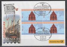 Deutschland Mi. 2195 Messebrief HAFNIA 2001 Kopenhagen Segelschiff Stralsund