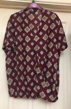 Simply Be Burgundy Top Size 22