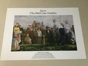 """SILVER ERA LITHO """"WALT SPITZMILLER"""" WATSON & NICKLAUS  """"THE BOUT AT TURNBERRY"""""""