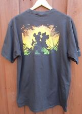 Mickey Mouse & Minnie Mouse Honeymoon Sunset in Hawaii Crazy Shirt Disney Sz L