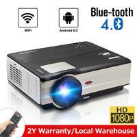 4500lms LED Android Bluetooth Heimkino Beamer LCD Projektor HDMI USB HD 1080p AV