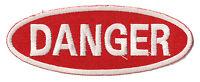 Ecusson patche badge DANGER thermo patch transfert embellissement brodé