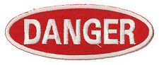 Ecusson brodé patche badge DANGER thermo patch transfert embellissement
