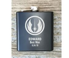Personalized Best Man Star Wars Inspired Flask Great Groomsmen Usher Gift