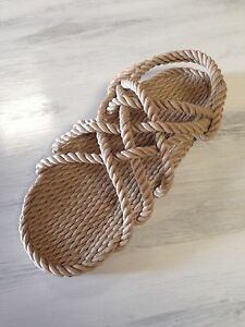 Rope Sandals Beige Men's Size 11 Medium Width.     Vegan