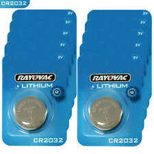 10 x Rayovac CR2032 batteries Lithium 3V Coin cell Watch ECR2032 BR2032 EXP:2023