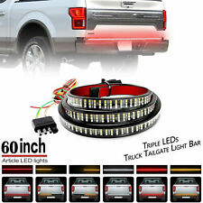 5 Modes 432LED Truck Strip Tailgate Light Bar 3Row Reverse Brake Signal Tail 60""