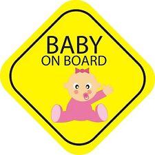 Bébé à bord fille extérieur Pare-chocs Autocollant graphique vinyle étiquette