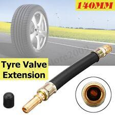 140mm Flexible Tyre Valve Dual Tire Extension Adapter + Dust Cap Truck Lorry Bus
