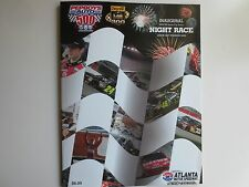 PEPBOYS 500 RACING PROGRAM  ATLANTA  Inaugural Night Race Labor Day 2009  Extras