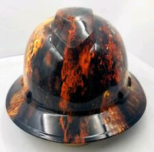 Hard Hat FULL BRIM  hydro dipped , OSHA approved NEW RUST BUCKET HEAD PATINA