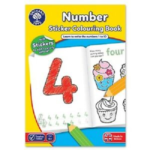 FIRST NUMBERS A4 BOOK ORCHARD TOYS childs stickers and colouring home learning