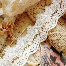 Beautiful Vintage Style Quality Cotton Guipure Floral Lace Bridal Off White1M A