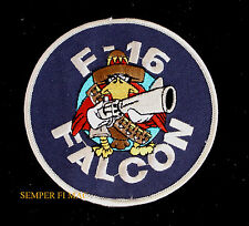 F-16 FIGHTING FALCON PATCH US AIR FORCE AFB PILOT WING FIGHTER LOGO PIN UP WOW