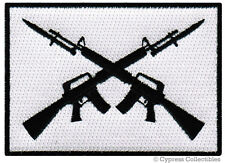 M16 BAYONET FLAG PATCH iron-on embroidered ASSAULT RIFLE SLEEVE EMBLEM MILITARY