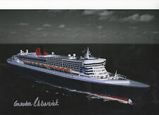 Queen Mary 2 12x8 in person signed by her 1st Captain COMMODORE WARWICK