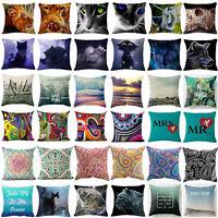 Square Throw Pillow Cover Chair Seat Pillow Case Sofa Car Waist Cushion Cover