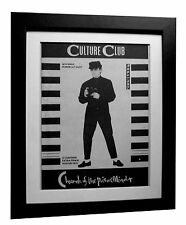 CULTURE CLUB+Church Poison+POSTER+AD+RARE+ORIGINAL 1983+FRAMED+FAST GLOBAL SHIP