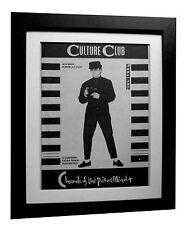 CULTURE CLUB+Church Poison+POSTER+AD+RARE+ORIGINAL 1983+FRAMED+FAST GLOBAL SHIP