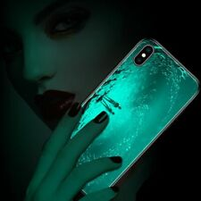 Cell Phone Case Luminous Tempered Glass Cover Mobile Night Glowing Accessories