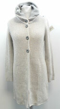 Julia Garnett Mix Di Lana Lunga Cardigan Beige Taglia ITA 42/UK 10 BOX7314 a
