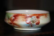 Beautiful, large antique Hermann Ohme Silesia porcelain bowl. Rivoli pattern.