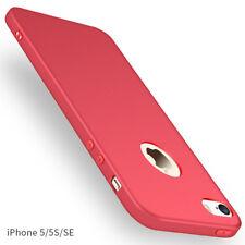 For Apple iPhone 5 5s SE Ultra Slim Shockproof Soft Rubber Case Matte Back Cover