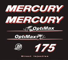 Adesivi motore marino fuoribordo Mercury 175 hp optimax world mondo