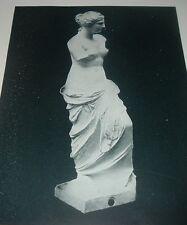 1892 Antique Print VENUS DE MILO STATUE Aphrodite Nude Louvre Gallery Paris