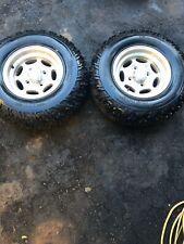 2006 arctic cat 400 4x4 h1 front tires wheels rims 12x7 W Hole Shot 205 80-12,ti