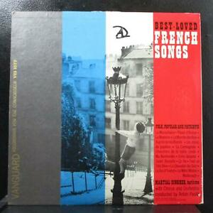 Martial Singher - Best Loved French Songs LP VG Mono Vanguard VRS 1079 USA