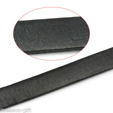 "2M Cowhide Leather Jewelry Cord Black 10mm x 3mm( 3/8""x 1/8"")"