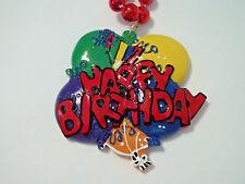 Happy Birthday Balloon Necklace Mardi Gras Beads Bead