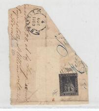 TOSCANA 1852 1 QUATTRINO NERO SU GRIGIO SU FRAMMENTO CERTIFICATO BIONDI