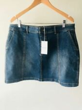 Country Road Denim Machine Washable Regular Size Skirts for Women