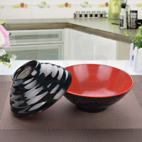 UK Plastic Noodle Rice Salad Dish Bowl Japanese Chinese Style food lunch home
