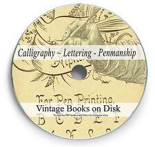 RARE VINTAGE CALLIGRAPHY LETTERING BOOKS on DVD - PENMANSHIP & TYPOGRAPHY - 271