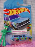 "'64 CHEVY NOVA WAGON #188 ☮blue; tie dye; ""E"" ☮ART CARS☮2019 i Hot Wheels CASE K"