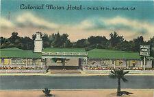 BAKERSFIELD CA COLONIAL MOTOR HOTEL/MOTEL ROADSIDE LINEN P/C