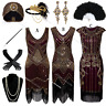 1920s Roaring 20's Costume Flapper Gatsby Party Evening Cocktail Dress Plus Size