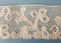 Antique Lace Trim Point De Paris Floral Scalloped Edge 1.5Yards x 1.7""