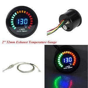 Universal Car 2'' 52mm Exhaust Gas Digital 20 LED Temperature Gauge EGT & Sensor