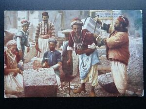 ?Palestine Judea JERUSALEM Stone Masons c1930 Postcard by Photochrom