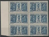 """FRANCE STAMP TIMBRE 274 """" EXPOSITION COLONIALE 1F50 BLOC DE 6 """" NEUF xx TTB N765"""