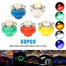50× T5 B8.4D 5050 Car SUV Indicator Gauge Cluster Dashboard Lights Accessories