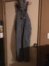 Vintage mens Big Mac Railroad Overalls With Conductors Hat And Whistle Size Xl