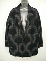 BNWT WOMENS SOON MATALAN UK 16 BLACK SILVER EMBROIDERED BLAZER JACKET RRP £40