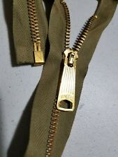 3black 25inch #5 Antique Brass Metal Separating heavy Zippers with fancy pull