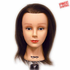 "Celebrity Bridgette Budget Cosmetology Human Hair Manikin Manneqiun 16-17"" Long"